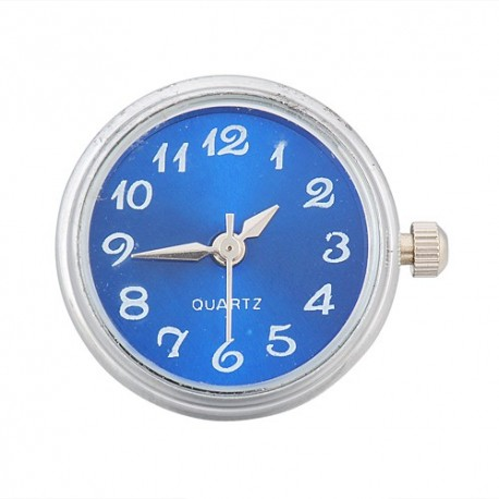 Stainless Steel Noosa Style Blue Watch Chunk Charm