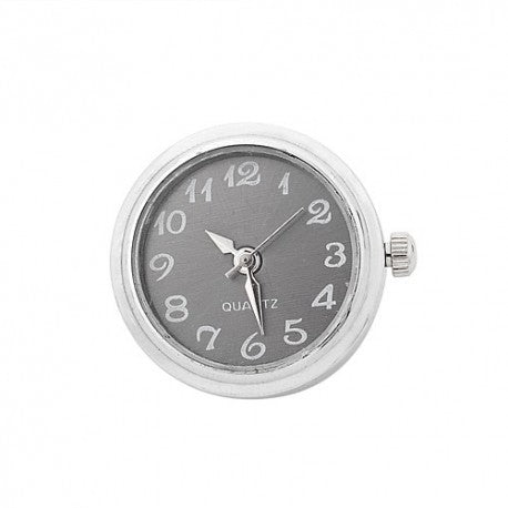 Stainless Steel Noosa Style Gray Watch Chunk Charm