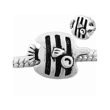 Striped Fish Charm Bead