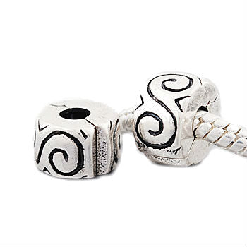 (2) Swirls Clip Lock Stopper Beads