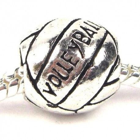Volleyball Charm Bead