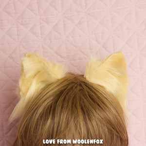 Small Blonde Cat Ears