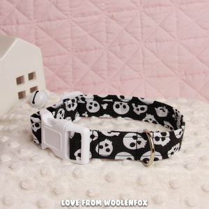 ON SALE *** Skull Pup Collar - 13 to 21 inches