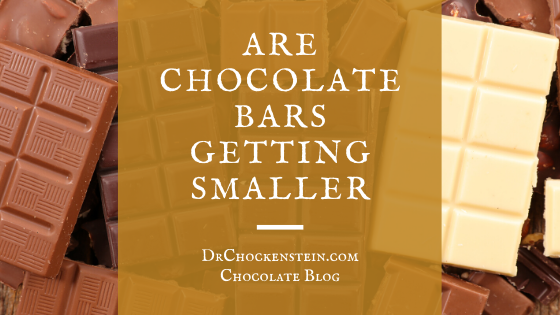 Are chocolate bars getting smaller?
