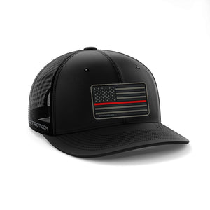 SNAPBACK BLACK - RED LINE PATCH