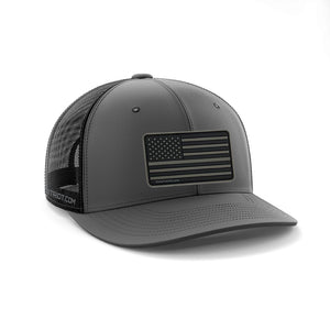 SNAPBACK CHARCOAL / BLACK - BLACKOUT PATCH
