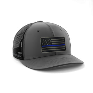 SNAPBACK CHARCOAL / BLACK - BLUE LINE PATCH