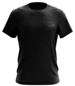 NEVER FORGET SHORT SLEEVE: DRY-FIT: BLACK