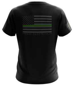 STATE PATRIOT PREMIUM-GREEN LINE SHORT SLEEVE BLACK