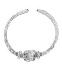 Buddha Knot Necklace – Silver
