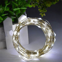 100 Cool White LED Fairy Lights USB