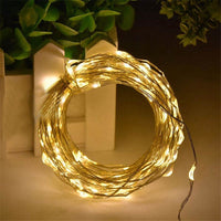 100 Warm White LED Fairy Lights USB