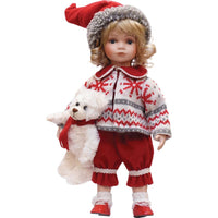 14.5 Alpine Chic Porcelain Morgan Collectible Christmas Doll