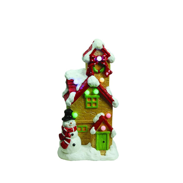 17 Led Lighted Snow Covered Cottage Musical Christmas Decoration
