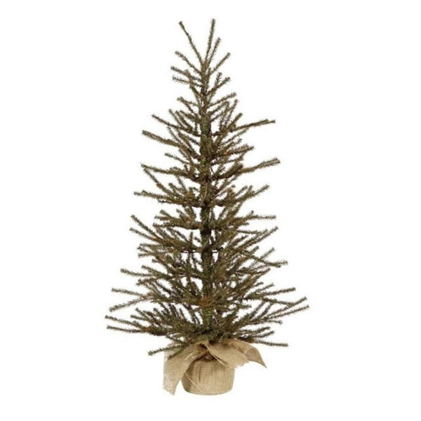 18 X 12 Vienna Twig Artificial Christmas Tree In Burlap Base - Unlit