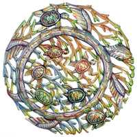 Sea Turtle Metal Wall Art - Croix des Bouquets