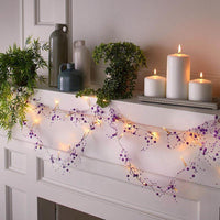 20 LED Purple Beads String Light