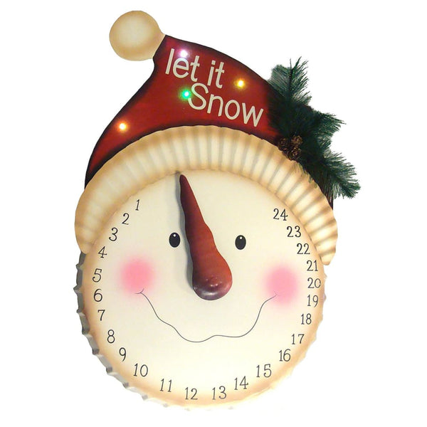 21 Led Lighted Let It Snow Christmas Countdown Calendar