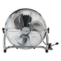"14"" Silver Three Speed Adjustable Tilt Portable Floor Fan"