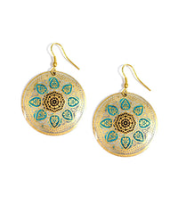 Matsya Disc Earrings