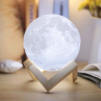 3D Moon Rechargeable Table Lamp with Base - JT Home & Away