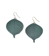Devika Bodhi Leaf Earrings