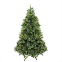 6.5' Pre-Lit Cashmere Mixed Pine Artificial Christmas Tree - Warm Clear LED Lights