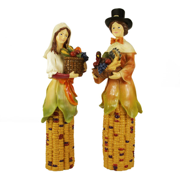 Set of 2 Pilgrim Autumn Harvest Sculpted Table Toppers 10.5