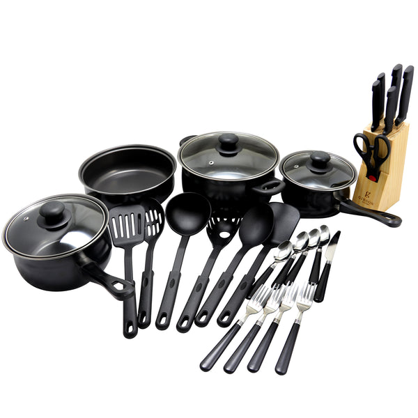Gibson Home Total Kitchen 32-Piece Cookware Combo Set
