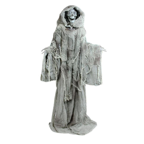 65 Touch Activated Lighted Standing Master Of Death Animated Halloween Decoration With Sound