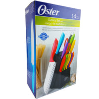 Oster 14pc Cutlery Set with Wood Storage Block