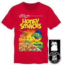 Kellogg's Honey Smacks Cereal Dig 'Em Specialty Soft Hand Print Men's Red T-Shirt