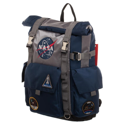 NASA Astronaut's Blue and Grey Roll Top Backpack