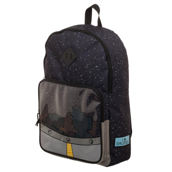 Rick and Morty Spaceship Silhouette Backpack