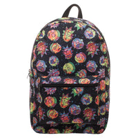 Rick and Morty Cosmic Psychedelic Expressions Printed Backpack