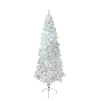 "6.5' x 32"" Pre-Lit White Winston Pine Artificial Christmas Tree - Multi LED Lights"