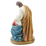 "11.5"" Holy Family Christmas Nativity Figure on a Gold Colored Base"