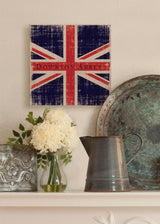 "14.5"" Downton Abbey British Union Jack Natural Beige Decorative Hanging Wall Art"