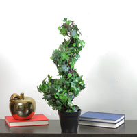 "22.5"" Potted Artificial English Ivy Spiral Topiary Tree"