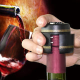 Wine Bottle Combination Lock and Freshness Seal