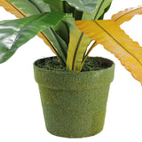 "22"" Decorative Potted Artificial Green and Brown Bird Nest Fern Plant"