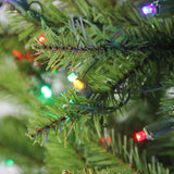 6.5' Pre-Lit Northern Pine Full Artificial Christmas Tree - Multi-Color LED Lights
