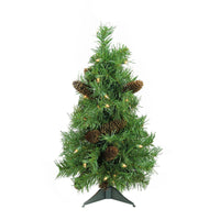 "2' x 17"" Pre-Lit Dakota Red Pine Full Artificial Christmas Tree - Clear Dura Lights"
