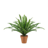 "18.5"" Potted Artificial Green Boston Fern Plant Spring Decoration"