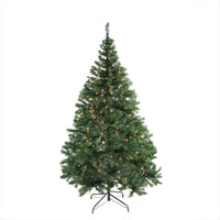 "6.5' x 46"" Pre-Lit Niagara Pine Artificial Christmas Tree - Clear Lights"