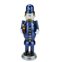 "12"" Decorative Blue, Gold and Black Wooden ""Pepsi"" Pete Nutcracker"