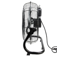 "14"" Jet Black Three Speed Adjustable Tilt Portable Floor Fan"