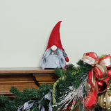 "11"" Red and Gray ""Elderly Edna"" Santa Gnome Table Top Christmas Figure"