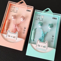 Adorable Cat Earbuds With Unique Zipper