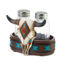Southwestern Bison Skull Salt & Pepper Shakers